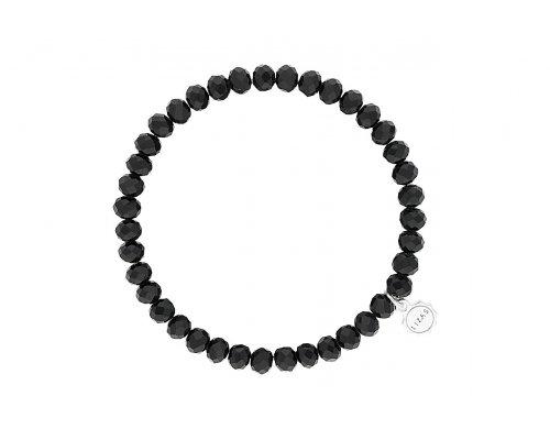 Armband mit Glasperlen in Schwarz