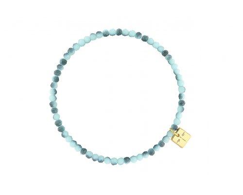 Basic Armband mit Perlen in blauen Tönen