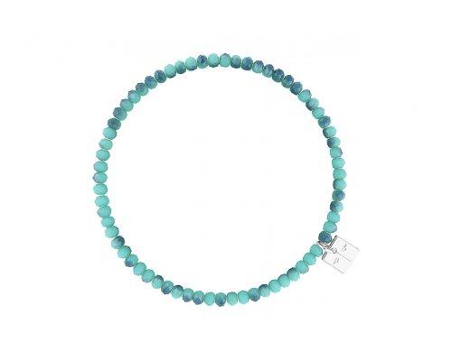 Basic Armband in Türkis mit blauen Akzenten