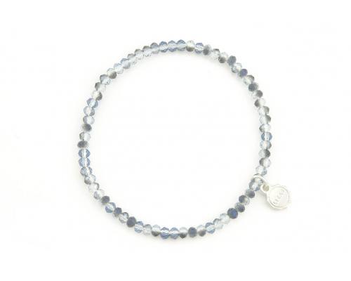 Glasperlen Armband in hellblau und grau