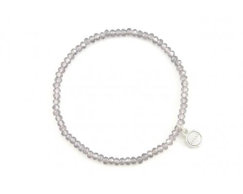 Armband mit Glasperlen in Lavendel