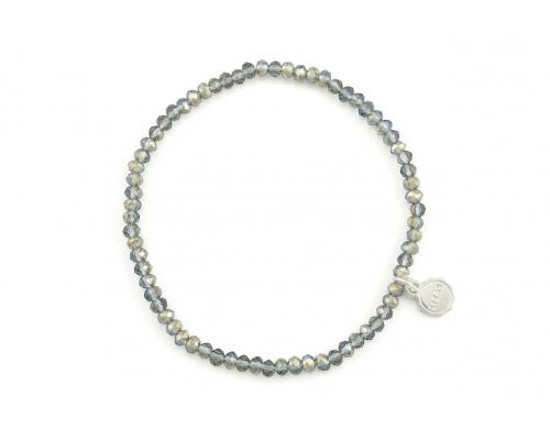 Graues Basic Perlen Armband