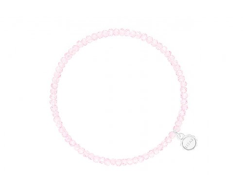 Hellrosa Armband mit Glasperlen
