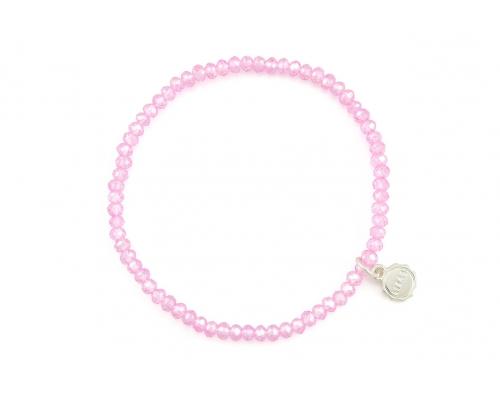 Rosa Armband aus Glasperlen