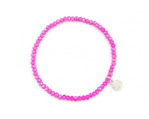 Armband in Pink aus Glasperlen