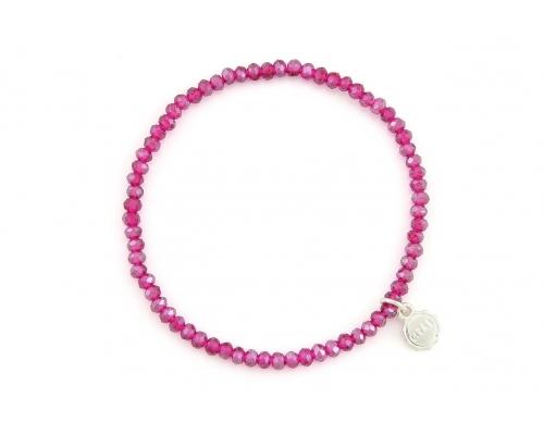 Pinkes Glasperlen Armband