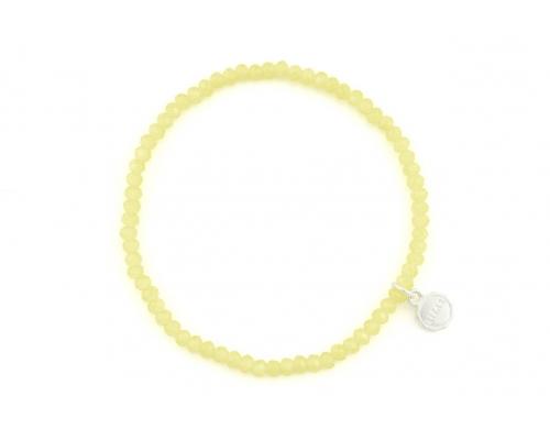 Gelbes Armband mit kleinen Glasperlen