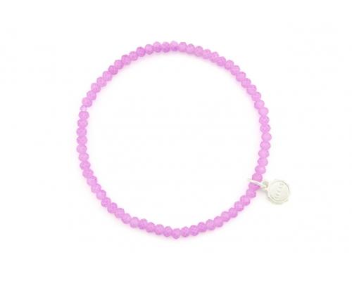 Armband mit Glasperlen in Lila