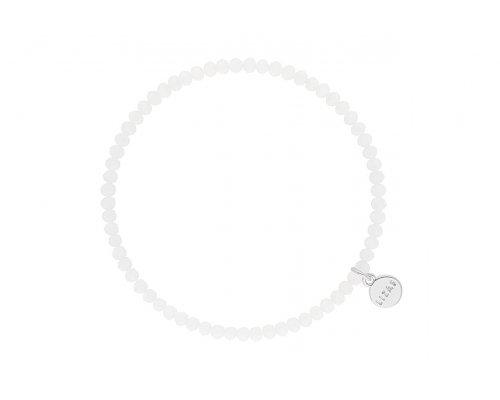 Weißes Glasperlenarmband