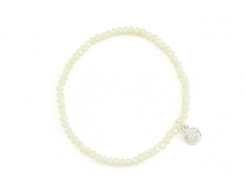 Basic Armband mit weißen Glasperlen