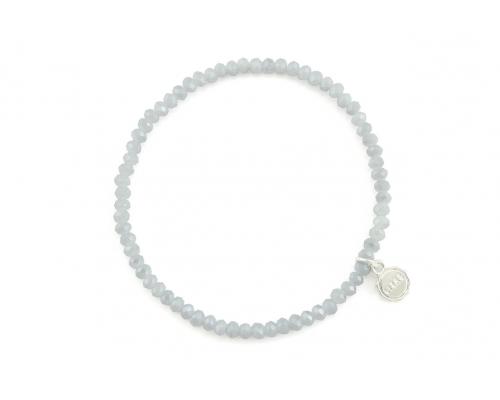 Hellgraues Perlen Armband