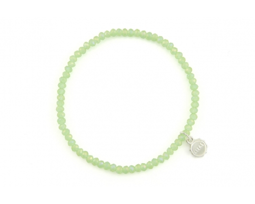 Hellgrünes Basic Glasperlenarmband