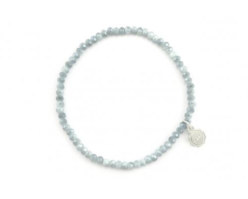 Hellblaues Glasperlen Armband