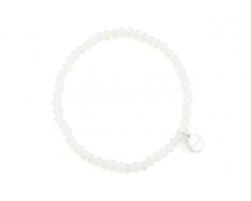 Weißes Basic Armband
