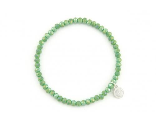 Grünes Glasperlen Armband