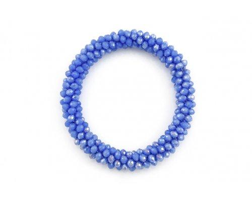 Glasperlen Armband mit Perlen in Blau