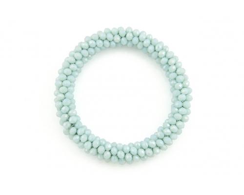 Basic Armband mit vielen kleinen Perlen in Mint