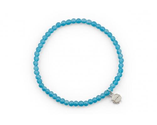 Blaues Glasperlen Armband