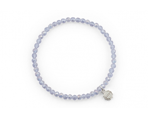 Glasperlen Armband in transparent Blau