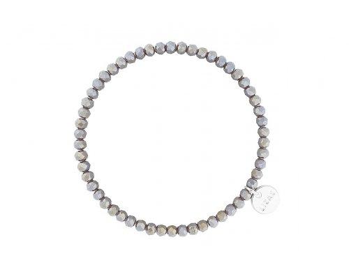 Grau glänzendes Armband