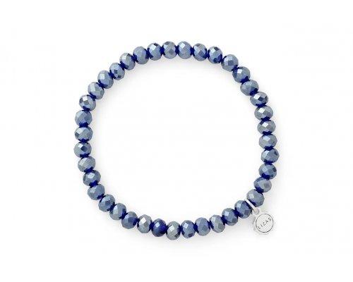 Glasperlen Armband mit blauen Perlen