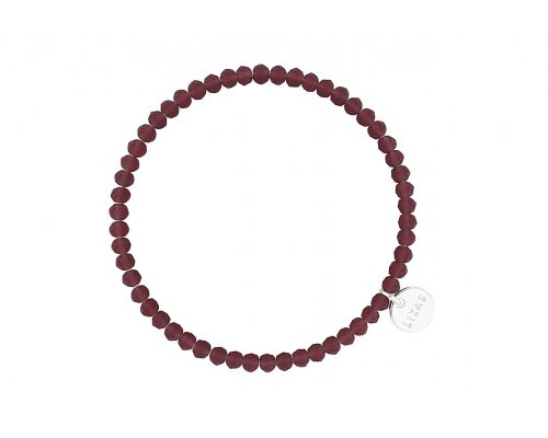 Armband mit Glasperlen in Dunkellila