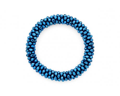 Basic Armband in Blau Metallic