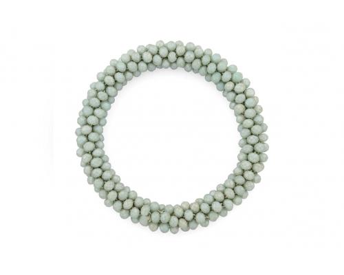 Basic Armband in Grau mit vielen kleinen Perlen