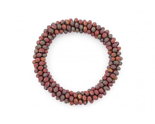 Basic Armband mit matten Perlen in dunkelrot
