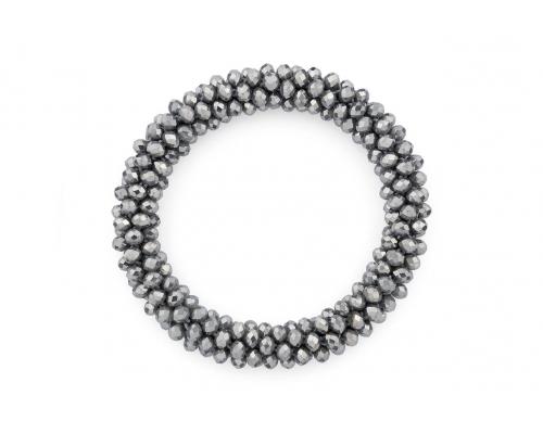 Grau glänzendes Basic Armband