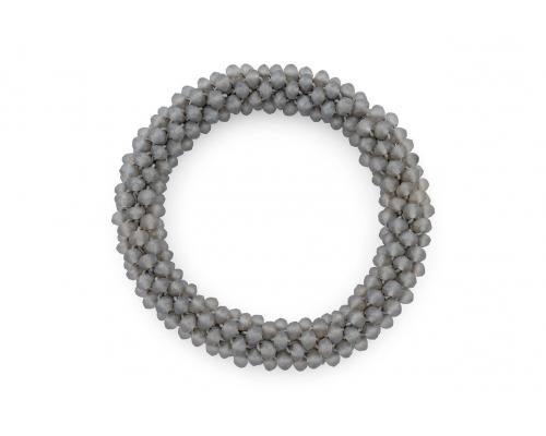 Dunkelgraues Glasperlen Armband