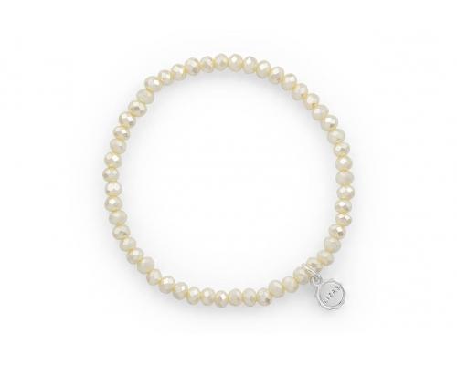 Perlenarmband in Ivory