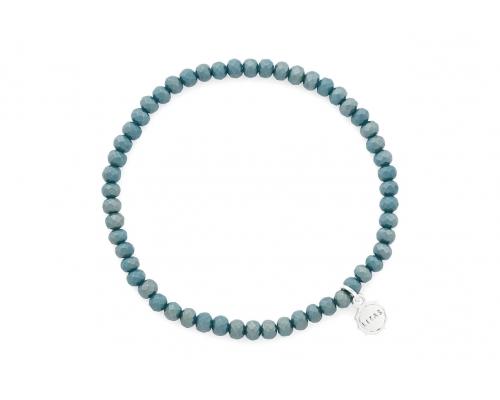 Dunkelgrünes Glasperlen Armband