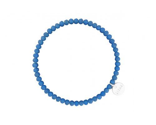 Blaues Armband mit Glasperlen