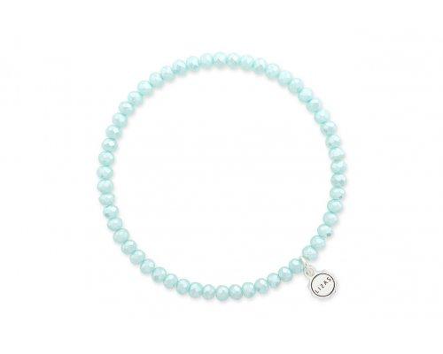 Glasperlenarmband mit Perlen in Türkis