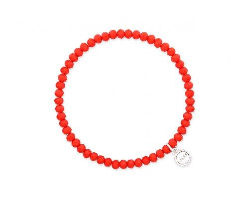 Rotes Basic Glasperlen Armband