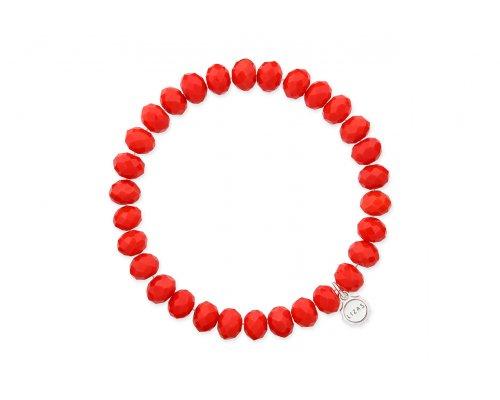 Rotes Armband mit Glasperlen
