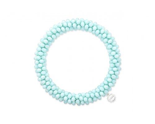 Glasperlen Armband in einem hellen Türkis