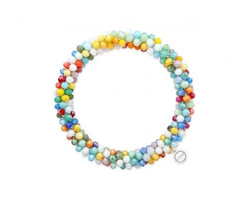 Buntes Basic Armband mit vielen kleinen Perlen