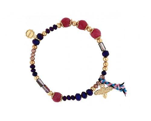 Armband in Blau und Pink
