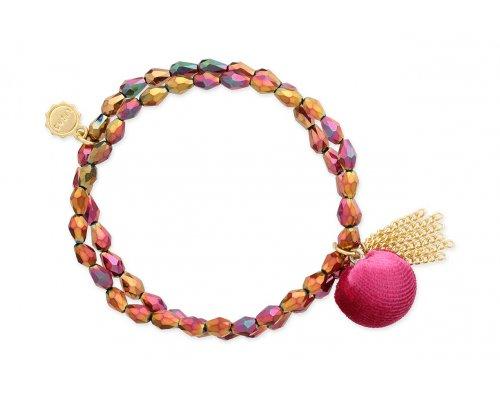 Armband - Pink Bobble