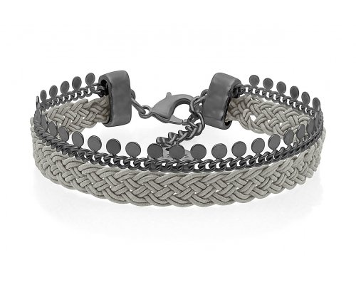 Armband - Braided Gey