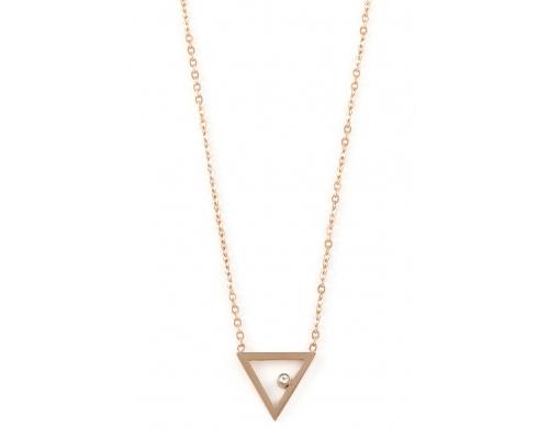Rosegoldfarbene Halskette mit Dreieck Anhänger