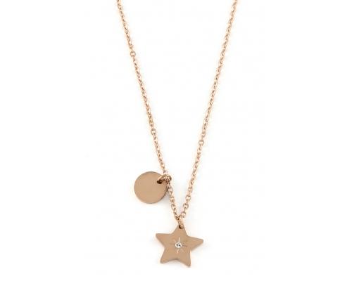 Rosegoldfarbene Halskette mit Stern