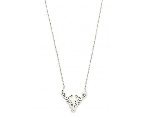 Silberfarbene Halskette mit Hirsch