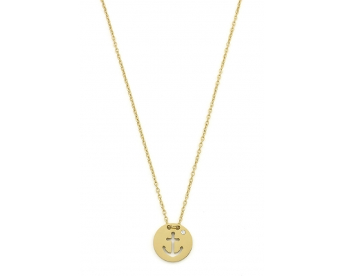 Goldfarbene Halskette mit Anker
