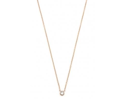 Rosegoldfarbene Halskette mit Kristall Anhänger