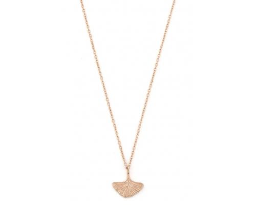 Halskette mit Ginko-Blatt in rosegold