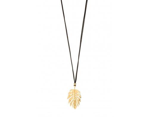 Halskette mit Palmenblatt Anhänger