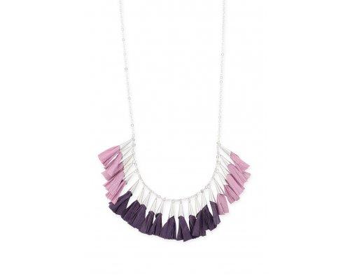 Halskette mit Lila Details